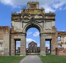 Rūmų ansamblio vartai prieš renovaciją