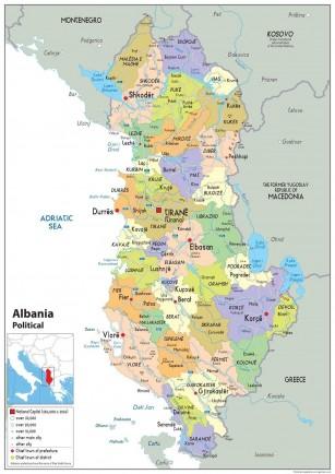 Albanijos žemėlapis