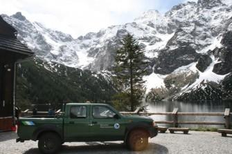 Morske Oko ežeras Tatrų nacionalinio parko lenkiškoje dalyje